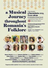 Romanian Arts and Folklore Association îi invită pe iubitorii de folclor românesc într-o călătorie muzicală unică